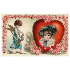Gel Beautiful Girl Valentine Cupid Beautiful lady red Roses Series 269