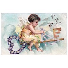1909 Unsigned Ellen Clapsaddle vintage Valentine Postcard