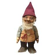 "7"" Vintage Steiff Gnome felt doll Gucki with original tags on chest  + Display box"