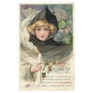Artist Signed Samuel Schmucker John Winsch Halloween Postcard Witch & Goblins
