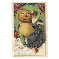 1912 Artist Samuel Schmucker John Winsch Halloween Postcard