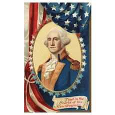 International Art Publishing Vintage Patriotic Postcard of George Washington Ellen Clapsaddle