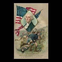 John Winsch George Washington Patriotic Postcard Battle scene