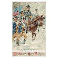 In Memory of George Washington Vintage Postcard Signed R Veenfliet