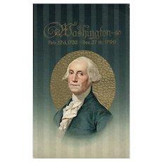 Dignified President George Washington Memorial Postcard by John Winsch