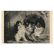 Friendly Shelter Art print by Julius Adam vintage postcard