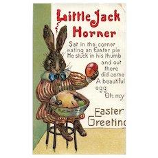 Scarce Little Jack Horner Bunny Rabbit Easter Greeting Nursery rhyme