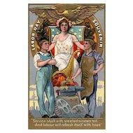 Rare Nash Labor Day Series 1 Vintage postcard