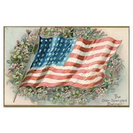 Patriotic Star Spangled Banner Tuck Decoration Day Series 107 Vintage postcard