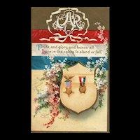 Grand Army of the Republic Patriotic Signed Ellen Clapsaddle vintage Postcard