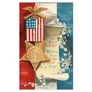 Signed Ellen Clapsaddle Patriotic Vintage Postcard GAR Grand Army of the Republic Militaria