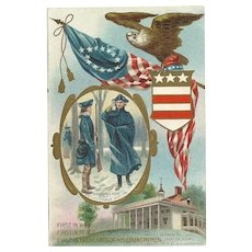 Vintage patriotic Postcard George Washington commemorative