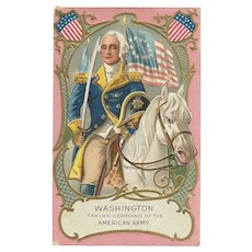 Washington Birthday Series No 1 by Nash vintage patriotic postcard