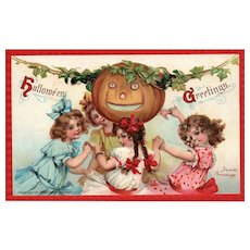 Artist Signed Frances Brundage Halloween Postcard