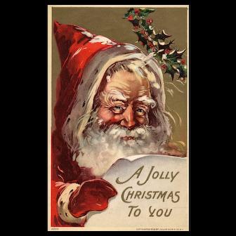 Julius Bien Santa Claus Vintage Christmas postcard series 500 1 of 2