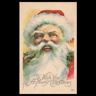 1923 Wonderful close up Large Face Santa Claus