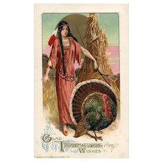 1912 John Winsch Samuel Schmucker Vintage Indian Thanksgiving Postcard