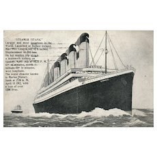 1913 Vintage RMS Titanic postcard Steamer ship Disaster