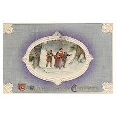 John Winsch Christmas vintage postcard Scenic winter