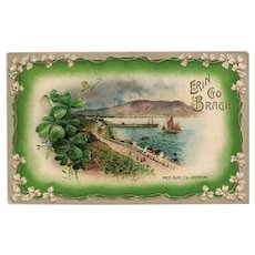Erin Go Bragh St Patricks Day Postcard Red Bay Co Scenic vintage Postcard