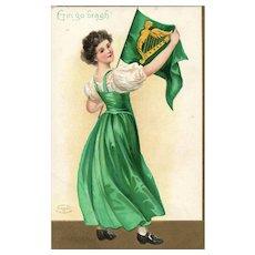 Ellen Clapsaddle Erin Go Bragh Vintage Irish St Patricks Day Postcard
