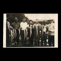 Vintage Real Photo Fishing Fisherman Fish Postcard