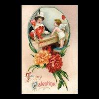 1911 Ellen Clapsaddle Garre Vintage Valentine Postcard