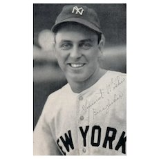 New York Yankee Professional baseball Bill Zuber restaurant