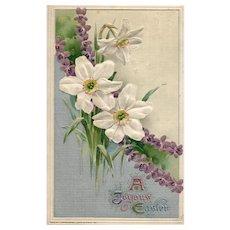1911 Beautiful John Winsch Easter Lily vintage Postcard