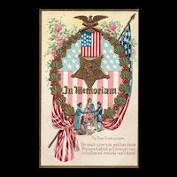 Decoration Day Series NO 1 Memorial Day Patriotic Miss Liberty  Soldiers Family Postcard