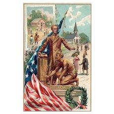 Raphael Tuck Lincoln's Birthday Series 135 Emancipation of Black Slaves Patriotic