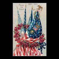 Raphael Tuck Decoration Day Series 107 Patriotic Postcard for Civil War 1861-1865