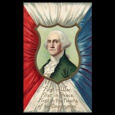 Signed Ellen Clapsaddle International Art George Washington Patriotic Postcard