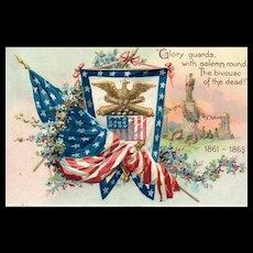 Civil War Raphael Tuck Decoration / Memorial Day Series 107 Vintage Postcard
