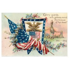 Civil War Raphael Tuck Decoration / Memorial Day Series 107 Vintage Postcard