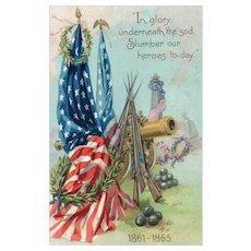 Raphael Tuck Civil war Decoration Day vintage patriotic Postcard