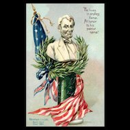Raphael Tuck Decoration / Memorial Day Series 107 Vintage Postcard Abraham Lincoln