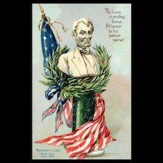 Raphael Tuck Decoration / Memorial Day Series 107 Vintage Postcard Abraham Lincoln