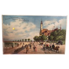 Hold To The Light Jackson Park Beach German Building Chicago Illinois Postcard