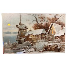 Hold To The Light Cold Winter Day On the Water Christmas Wishes Postcard