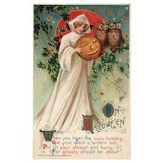 1911 John Winsch Samuel Schmucker vintage Halloween postcard