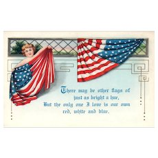 There may be other Flags... but the only one I love is our Red White Blue Vintage Patriotic Postcard