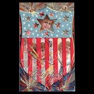 Nash Fourth of July Series 4 Patriotic Vintage Postcard