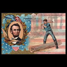 Abraham Lincoln Birthday Series No 1 The Rail Splitter
