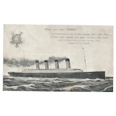Titanic White Star Liner Maiden Voyage Postcard vintage Postcard