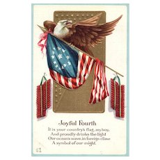 Joyful Fourth Nash Patriotic postcard series