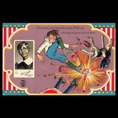 1913 Fourth of July Patriotic  Series No 1 Firecrackers