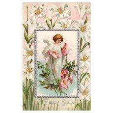 Unsigned Ellen Clapsaddle Fairy Angel Easter Postcard