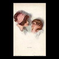 All  Mine Artist Signed Harrison Fisher Reinthal Vintage postcard
