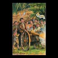 2nd of 2 Vintage Fourth of July Patriotic vintage Postcard series 746